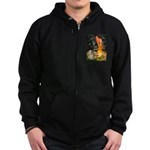 Midsummer / Cocker Spaniel Zip Hoodie (dark)
