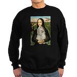 Mona Lisa /Cocker Spaniel Sweatshirt (dark)