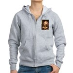 Queen / Cocker Spaniel (br) Women's Zip Hoodie