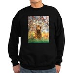 Spring /Cocker Spaniel (buff) Sweatshirt (dark)