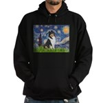 Starry Night / Collie (tri) Hoodie (dark)