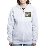 Lilies (2)/Collie (1S) Women's Zip Hoodie