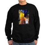 Cafe with Coton de Tulear Sweatshirt (dark)