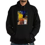 Cafe with Coton de Tulear Hoodie (dark)