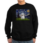 Starry Night Coton de Tulear Sweatshirt (dark)
