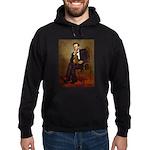 Lincoln's Dachshund Hoodie (dark)