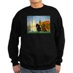 Sailboats / Dachshund Sweatshirt (dark)