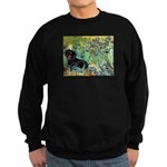 Irises & Dachshund (BT4) Sweatshirt (dark)