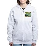 Irises & Dachshund (BT4) Women's Zip Hoodie