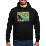 Irises & Dachshund (BT4) Hoodie (dark)