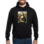 Mona Lisa's Dachshunds Hoodie (dark)