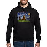 Starry / Dachshund Hoodie (dark)