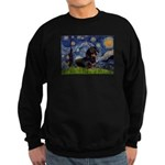 Starry Night Dachshund Sweatshirt (dark)