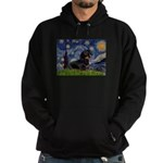 Starry Night Dachshund Hoodie (dark)