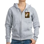 Windflowers / Dachshund Women's Zip Hoodie