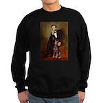 Lincoln's Red Doberman Sweatshirt (dark)