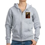 Lincoln's Red Doberman Women's Zip Hoodie