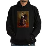 Lincoln's Red Doberman Hoodie (dark)