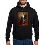Lincoln's Red Doberman Hoodie (dark)