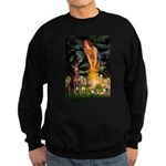 Fairies & Red Doberman Sweatshirt (dark)