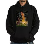 Fairies & Red Doberman Hoodie (dark)