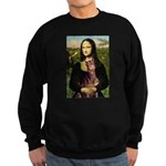 Mona's Red Doberman Sweatshirt (dark)