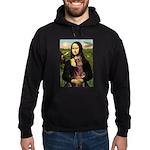 Mona's Red Doberman Hoodie (dark)