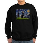 Starry Night Doberman Sweatshirt (dark)