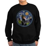 Starry Night Doberman (#1) Sweatshirt (dark)