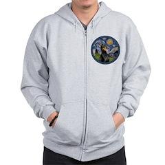 Starry Night Doberman (#1) Zip Hoodie