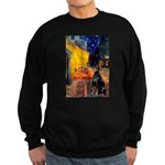 Cafe & Doberman Sweatshirt (dark)