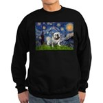 Starry Night English Bulldog Sweatshirt (dark)