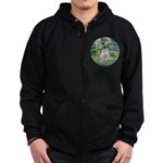 Bridge / English Setter Zip Hoodie (dark)