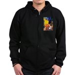 Cafe / Smooth T (#1) Zip Hoodie (dark)