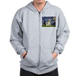 Starry / Fox Terrier (W) Zip Hoodie