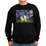 Starry / Fox Terrier (#1) Sweatshirt (dark)