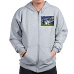 Starry / Fox Terrier (#1) Zip Hoodie