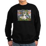 Lilies / Fr Bulldog (f) Sweatshirt (dark)