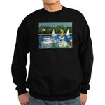 Sailboats / Fr Bulldog(f) Sweatshirt (dark)