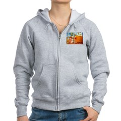 Room / Golden Women's Zip Hoodie