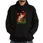 Angel & Golden Retrieve Hoodie (dark)