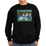 Sailboats / Gr Dane (h) Sweatshirt (dark)