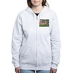 Lilies / Gr Dane (f) Women's Zip Hoodie