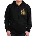 Fairies / Gr Dane (h) Zip Hoodie (dark)