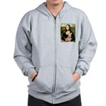 Mona Lisa / Greyhound #1 Zip Hoodie
