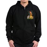 Midsummer's / Ital Greyhound Zip Hoodie (dark)