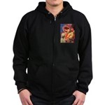 Mandolin Angel /Italian Spino Zip Hoodie (dark)