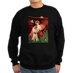 Seated Angel /Italian Spinone Sweatshirt (dark)