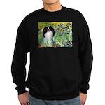 Irises/Japanese Chin Sweatshirt (dark)