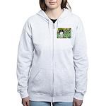 Irises/Japanese Chin Women's Zip Hoodie